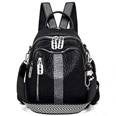 BUKESIYI Damen Tasche Rucksack Handtasche Frauen backpack Klein Anti Diebstahl Schulrucksack Laptop Weekender PU Leder CCDE78231