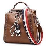 BUKESIYI Damen Tasche Rucksack Handtasche Frauen backpack Klein Anti Diebstahl Schulrucksack Laptop Weekender PU Leder CCDE78301
