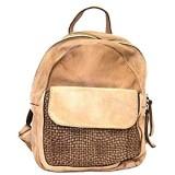 BZNA Bag Sam taupe Backpacker Designer Rucksack Damenhandtasche Schultertasche Leder Nappa Italy Neu