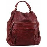 BZNA Bag Stella weinrot vintage Backpacker Designer Rucksack Damenhandtasche Schultertasche Leder Nappa sheep ItalyNeu
