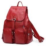 DRF Damen Rucksack aus Leder Daypack für Freizeit 28x38x12 cm BG120