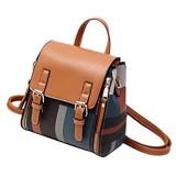 Tisdaini Damen Rucksackhandtaschen modische Reise Freizeit Einfachheit Schultertaschen Schulrucksack Braun