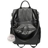 Tisdaini® Damen Rucksackhandtaschen modische reise freizeit schulrucksack Schwarz