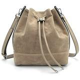 AFKOMST Beuteltasche Damen Leicht Schultertasche Damen Gross und Sanft Handtasche mit 2 Schulterriemen (A-Kamel)