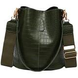 BUKESIYI Damen Tasche Umhängetasche Handtasche Frauen Klein Schultertasche Weekender Lack PU Leder CCDE77245
