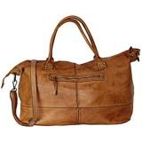 BZNA Bag Joe Cognac braun Italy Designer Weekender Damen Reise Tasche Handtasche Schultertasche Leder Shopper Neu