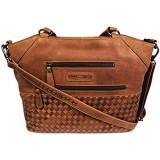 Hill Burry Damen Shopper | aus weichem hochwertigem Rindsleder - Vintage Elegante Fashion Bag Beutel | Umhängetaschen Schulterbeutel - Abendtasche | Handtasche - Schultertasche (Braun)