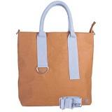 WOLA Damen Umhängetasche Handtasche Papier 32x29cm ORIGAMI waschbare Kraftpapier Tasche