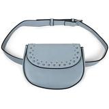 styleBREAKER Damen Multi Umhängetasche und Bauchtasche mit Nieten und Reißverschluss Schultertasche Gürteltasche 02012284 Farbe:Hellblau