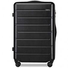 DKH-Handgepäck Schwarz Gepäck-Sets Handgepäck Koffer Trolleys Rollen Leicht Hartschale Reisekofferluggage