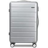 DKH-Handgepäck Silber Gepäck-Sets Handgepäck Koffer Trolleys Rollen Leicht Hartschale Reisekofferluggage