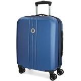 Movom Riga Kabinenkoffer Blau 40x55x20 cms Hartschalen ABS TSA-Schloss 36L 3Kgs 4 Doppelräder Handgepäck