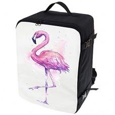 Multifunktions Handgepäck Rucksack gepolstert Flugzeugtasche Handtasche Reisetasche Rucksack gepolstertkoffer für Flugzeug Größe 40x30x20cm Flamingo [102]