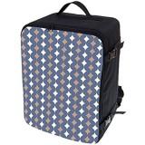 Multifunktions Handgepäck Rucksack gepolstert Flugzeugtasche Handtasche Reisetasche Rucksack gepolstertkoffer für Flugzeug Größe 40x30x20cm Welle [102]
