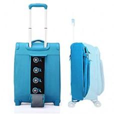 Verage funktionaler Trolley S-Max 55x40x20cm (20) großer Handgepäck-Koffer zusammenfaltbar mit Gratis Aufbewahrungstasche wasserdicht 4 Doppelrollen abnehmbar Hellblau